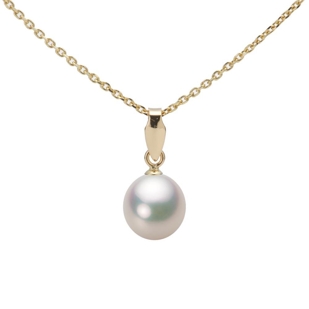 あこや真珠 パール ネックレス 7.0mm アコヤ 真珠 ペンダント K18 イエローゴールド レディース HA00070D11CW0U5Y00