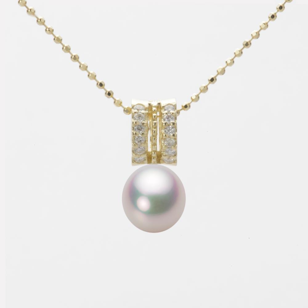 あこや真珠 パール ネックレス 7.0mm アコヤ 真珠 ペンダント K18 イエローゴールド レディース HA00070D11WPG1278Y