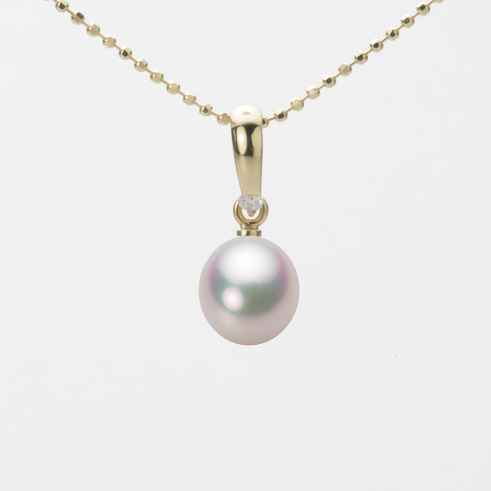あこや真珠 パール ネックレス 7.0mm アコヤ 真珠 ペンダント K18 イエローゴールド レディース HA00070D11WPG1500Y