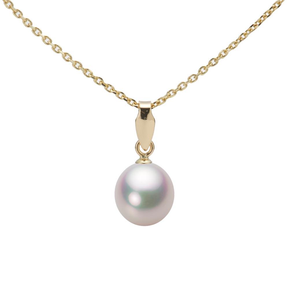あこや真珠 パール ネックレス 7.0mm アコヤ 真珠 ペンダント K18 イエローゴールド レディース HA00070D11WPGU5Y00