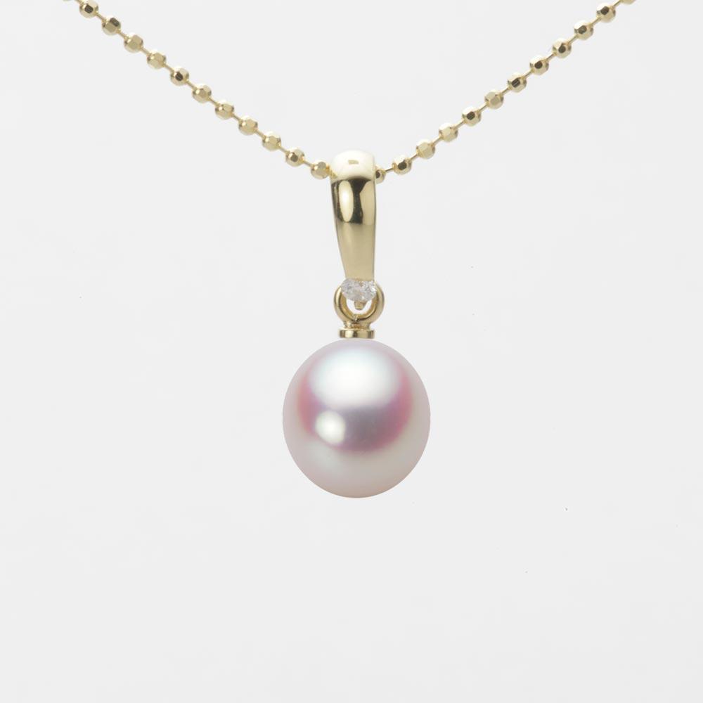 あこや真珠 パール ネックレス 7.0mm アコヤ 真珠 ペンダント K18 イエローゴールド レディース HA00070D11WPN1500Y