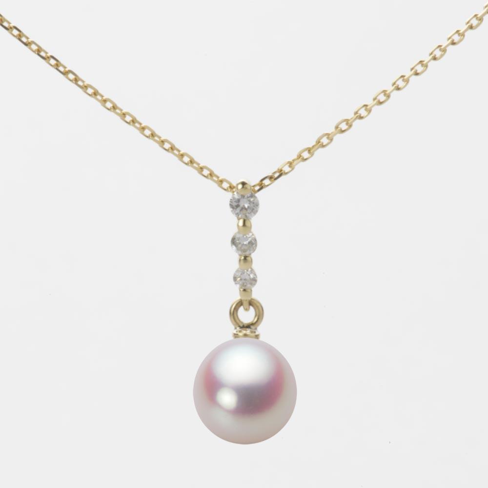 あこや真珠 パール ペンダント トップ 7.0mm アコヤ 真珠 ペンダント トップ K18 イエローゴールド レディース HA00070D11WPN797Y0-T