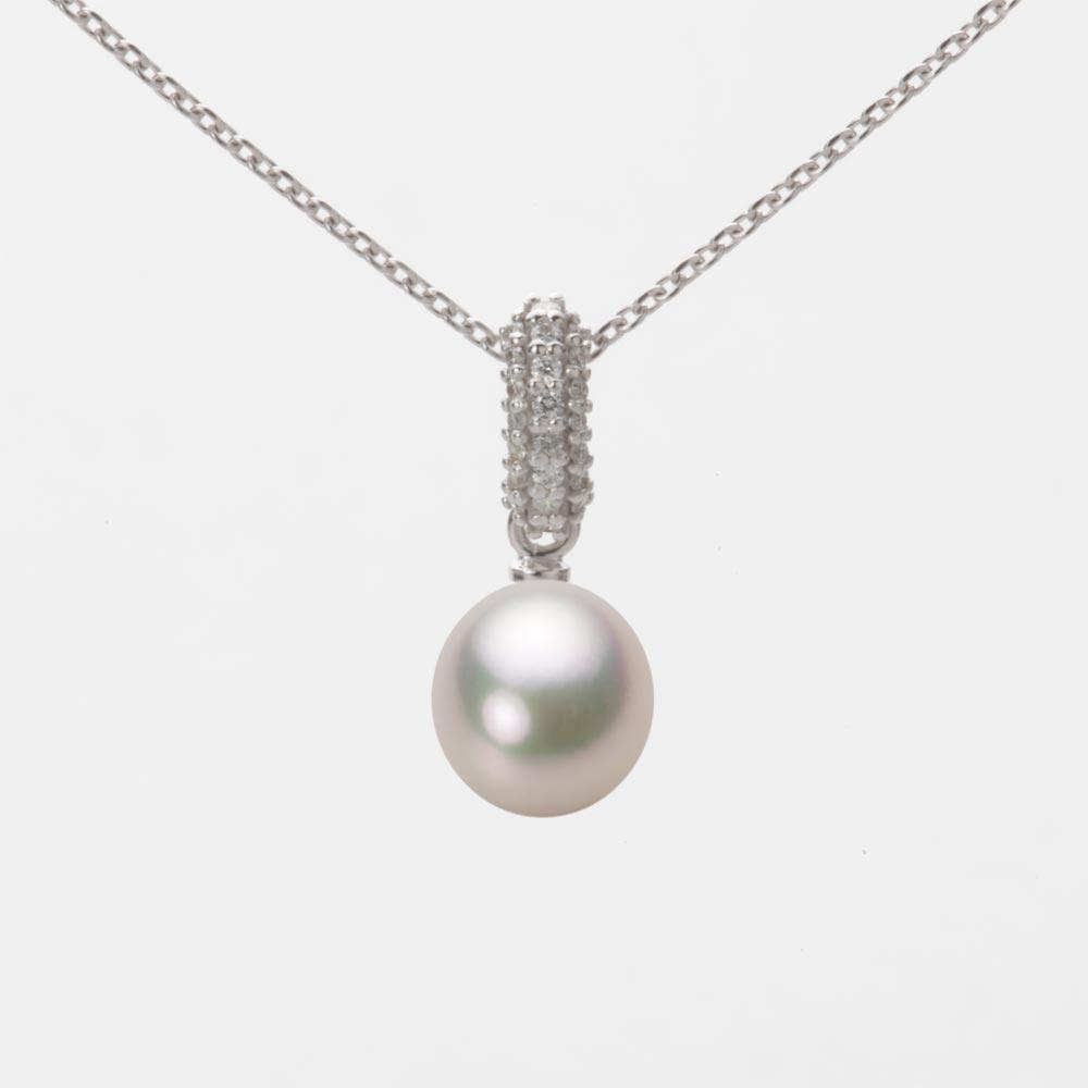 あこや真珠 パール ペンダント トップ 7.0mm アコヤ 真珠 ペンダント トップ K18WG ホワイトゴールド レディース HA00070D12CW01489W-T