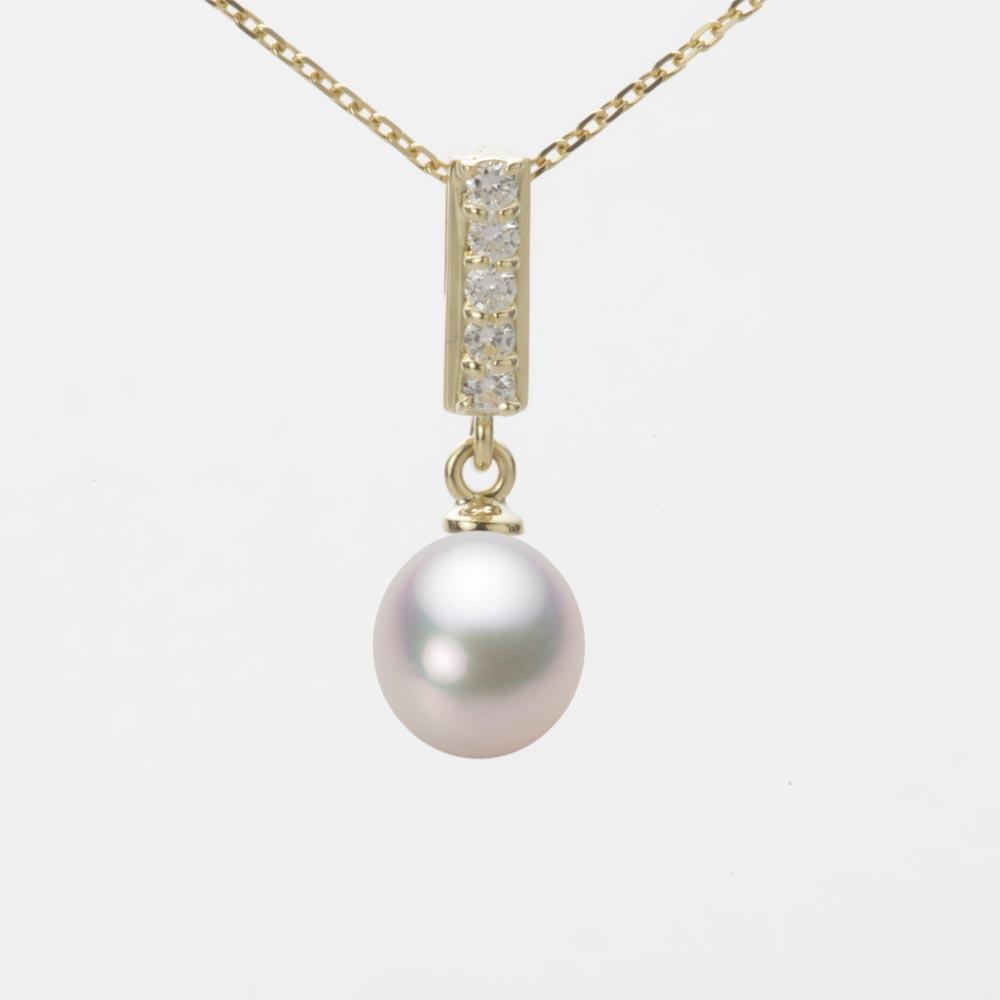 あこや真珠 パール ネックレス 7.0mm アコヤ 真珠 ペンダント K18 イエローゴールド レディース HA00070D12WPG314Y0
