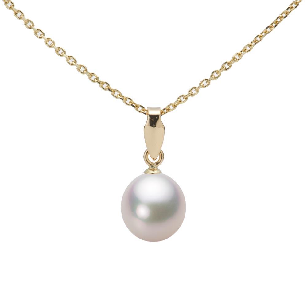 あこや真珠 パール ネックレス 7.0mm アコヤ 真珠 ペンダント K18 イエローゴールド レディース HA00070D12WPGU5Y00