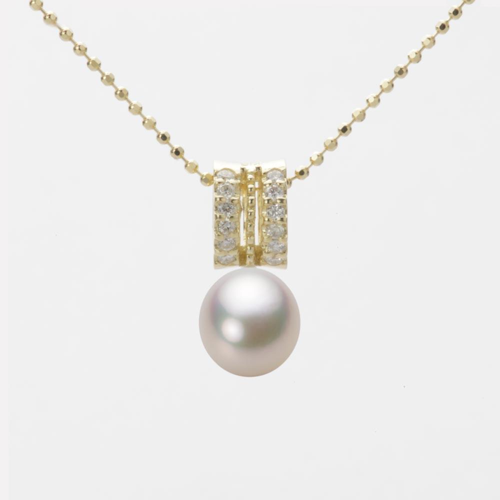 あこや真珠 パール ネックレス 7.0mm アコヤ 真珠 ペンダント K18 イエローゴールド レディース HA00070D13CW01278Y