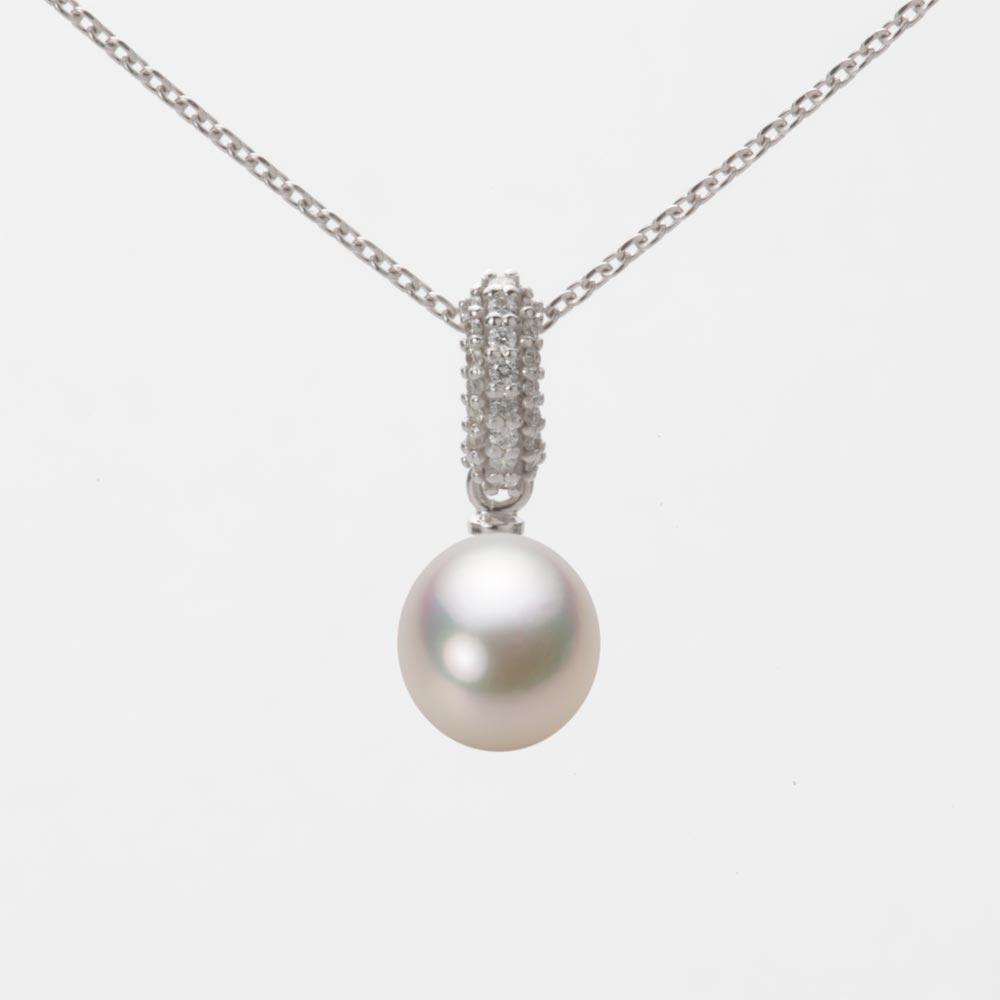 あこや真珠 パール ネックレス 7.0mm アコヤ 真珠 ペンダント K18WG ホワイトゴールド レディース HA00070D13CW01489W