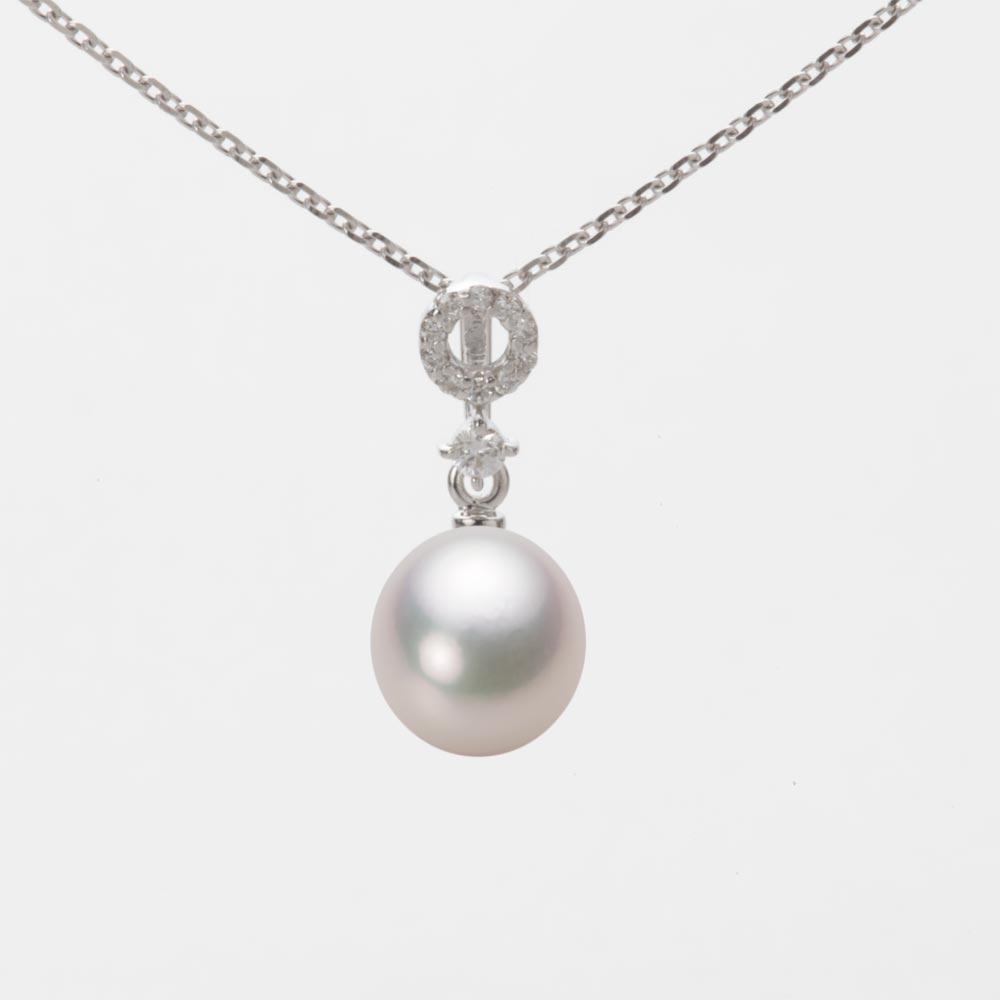 あこや真珠 パール ネックレス 7.0mm アコヤ 真珠 ペンダント K18WG ホワイトゴールド レディース HA00070D13WPG1474W