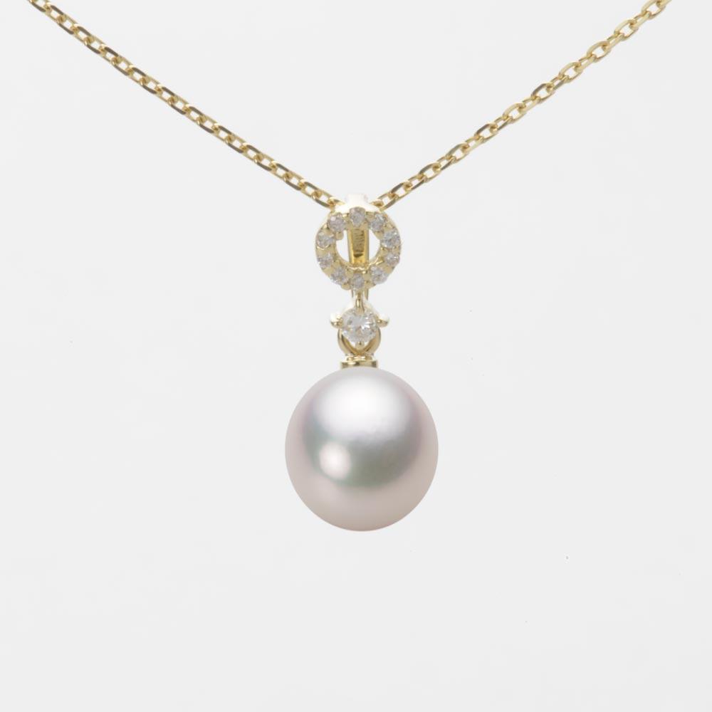あこや真珠 パール ネックレス 7.0mm アコヤ 真珠 ペンダント K18 イエローゴールド レディース HA00070D13WPG1474Y