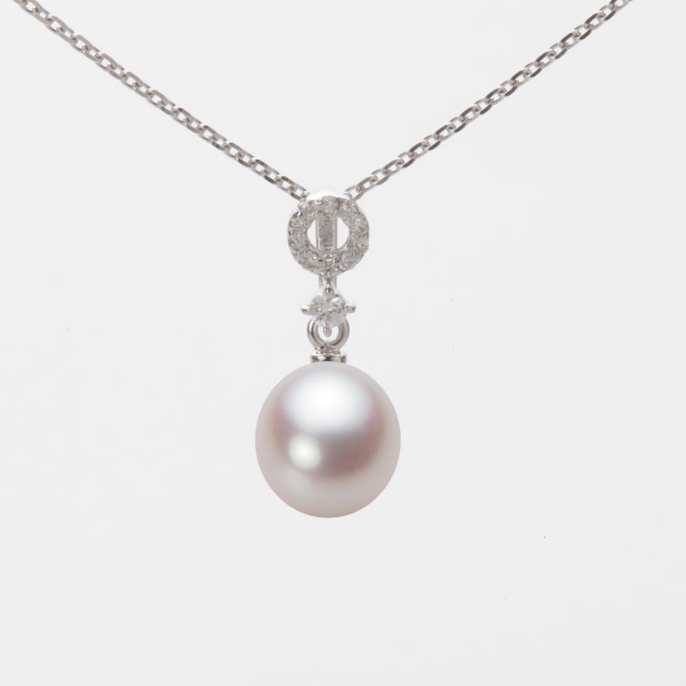 あこや真珠 パール ネックレス 7.0mm アコヤ 真珠 ペンダント K18WG ホワイトゴールド レディース HA00070D13WPN1474W