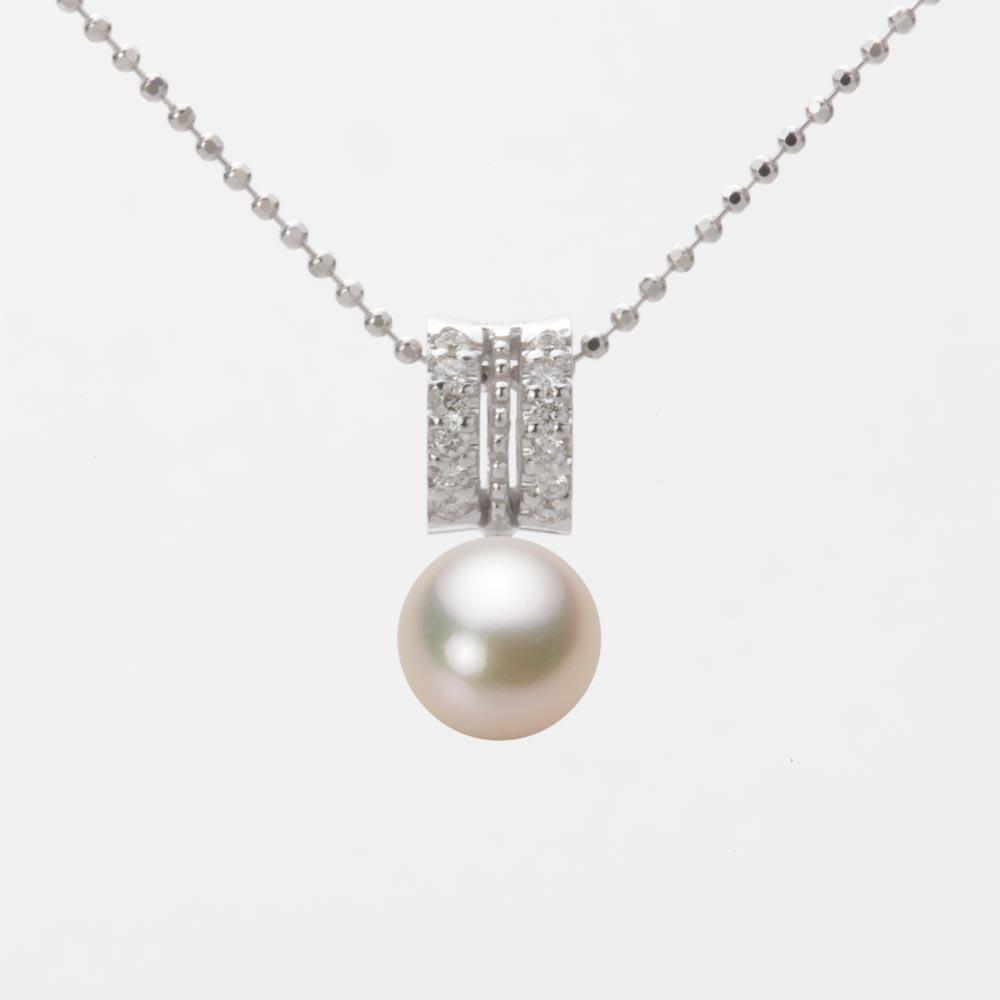 あこや真珠 パール ペンダント トップ 7.0mm アコヤ 真珠 ペンダント トップ K18WG ホワイトゴールド レディース HA00070R11CG01278W-T