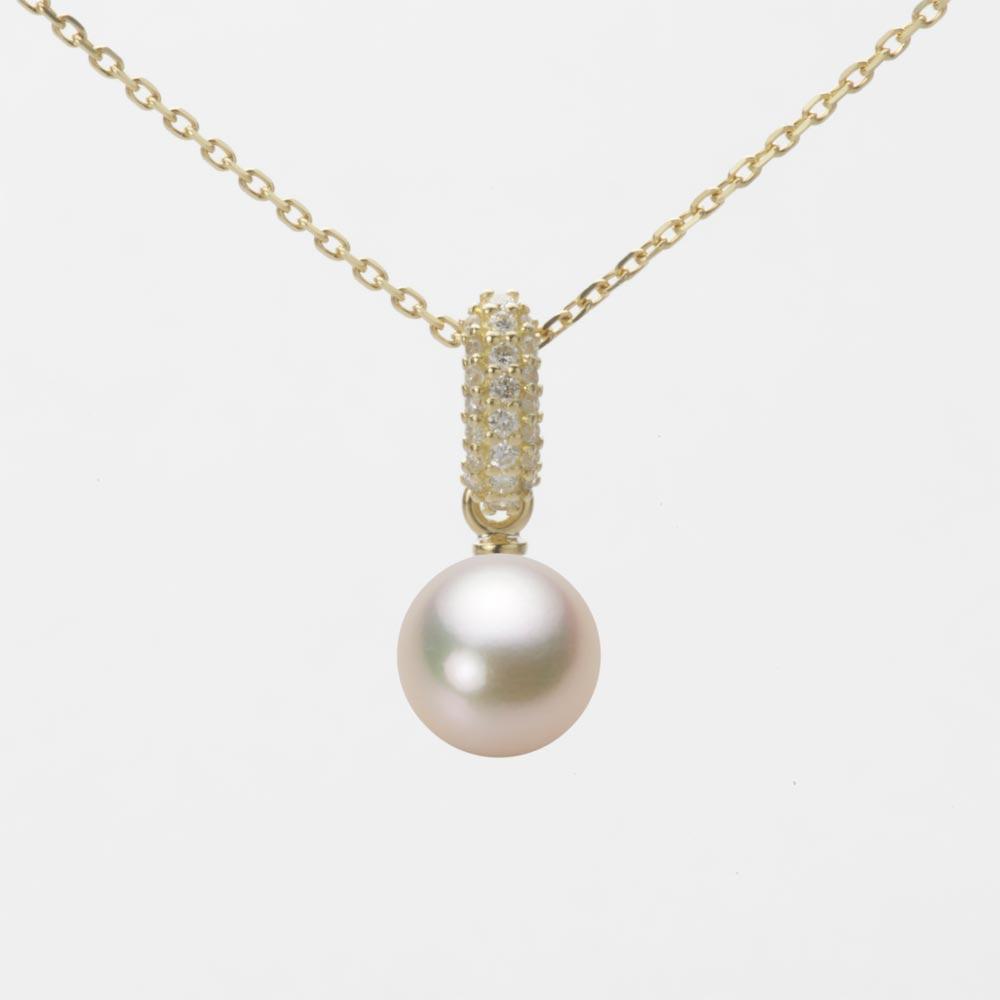 あこや真珠 パール ネックレス 7.0mm アコヤ 真珠 ペンダント K18 イエローゴールド レディース HA00070R11CG01489Y
