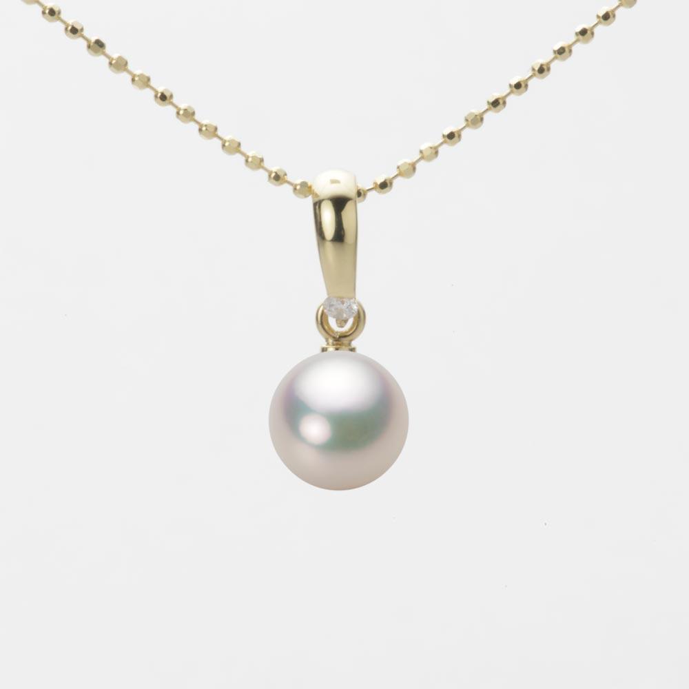 あこや真珠 パール ペンダント トップ 7.0mm アコヤ 真珠 ペンダント トップ K18 イエローゴールド レディース HA00070R11CW01500Y-T