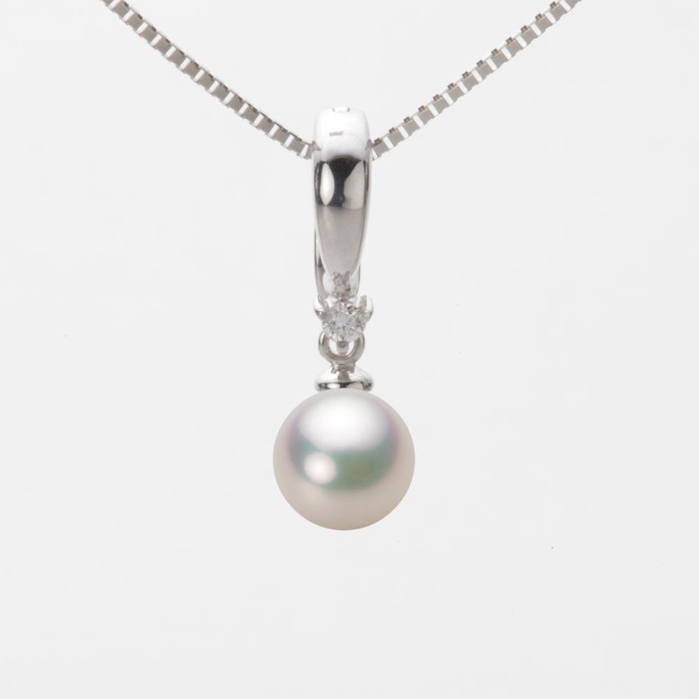 あこや真珠 パール ペンダント トップ 7.0mm アコヤ 真珠 ペンダント トップ K18WG ホワイトゴールド レディース HA00070R11CW0334W0-T