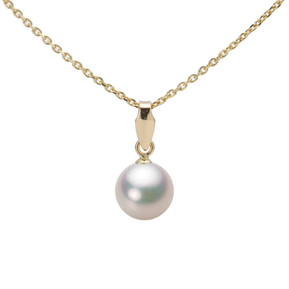 あこや真珠 パール ネックレス 7.0mm アコヤ 真珠 ペンダント K18 イエローゴールド レディース HA00070R11CW0U5Y00