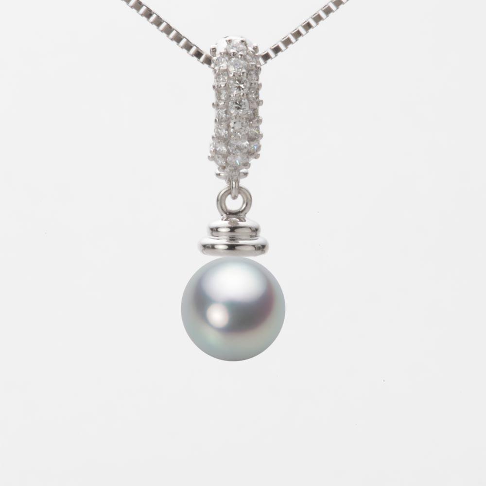 あこや真珠 パール ネックレス 7.0mm アコヤ 真珠 ペンダント K18WG ホワイトゴールド レディース HA00070R11SG0115W0