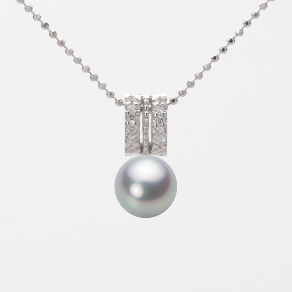 あこや真珠 パール ネックレス 7.0mm アコヤ 真珠 ペンダント K18WG ホワイトゴールド レディース HA00070R11SG01278W