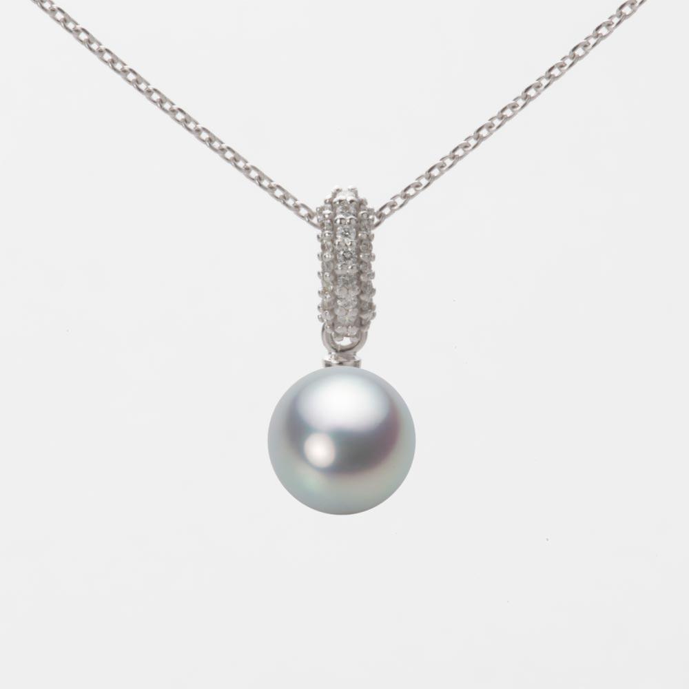 あこや真珠 パール ペンダント トップ 7.0mm アコヤ 真珠 ペンダント トップ K18WG ホワイトゴールド レディース HA00070R11SG01489W-T