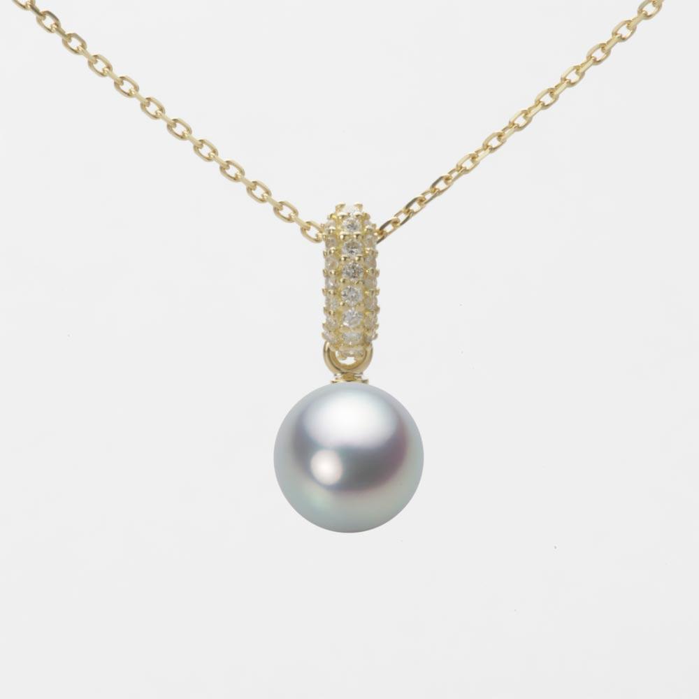 あこや真珠 パール ペンダント トップ 7.0mm アコヤ 真珠 ペンダント トップ K18 イエローゴールド レディース HA00070R11SG01489Y-T