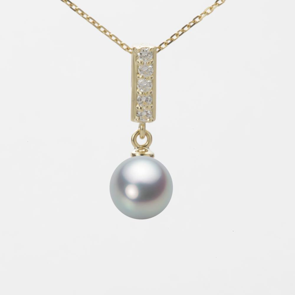 あこや真珠 パール ネックレス 7.0mm アコヤ 真珠 ペンダント K18 イエローゴールド レディース HA00070R11SG0314Y0