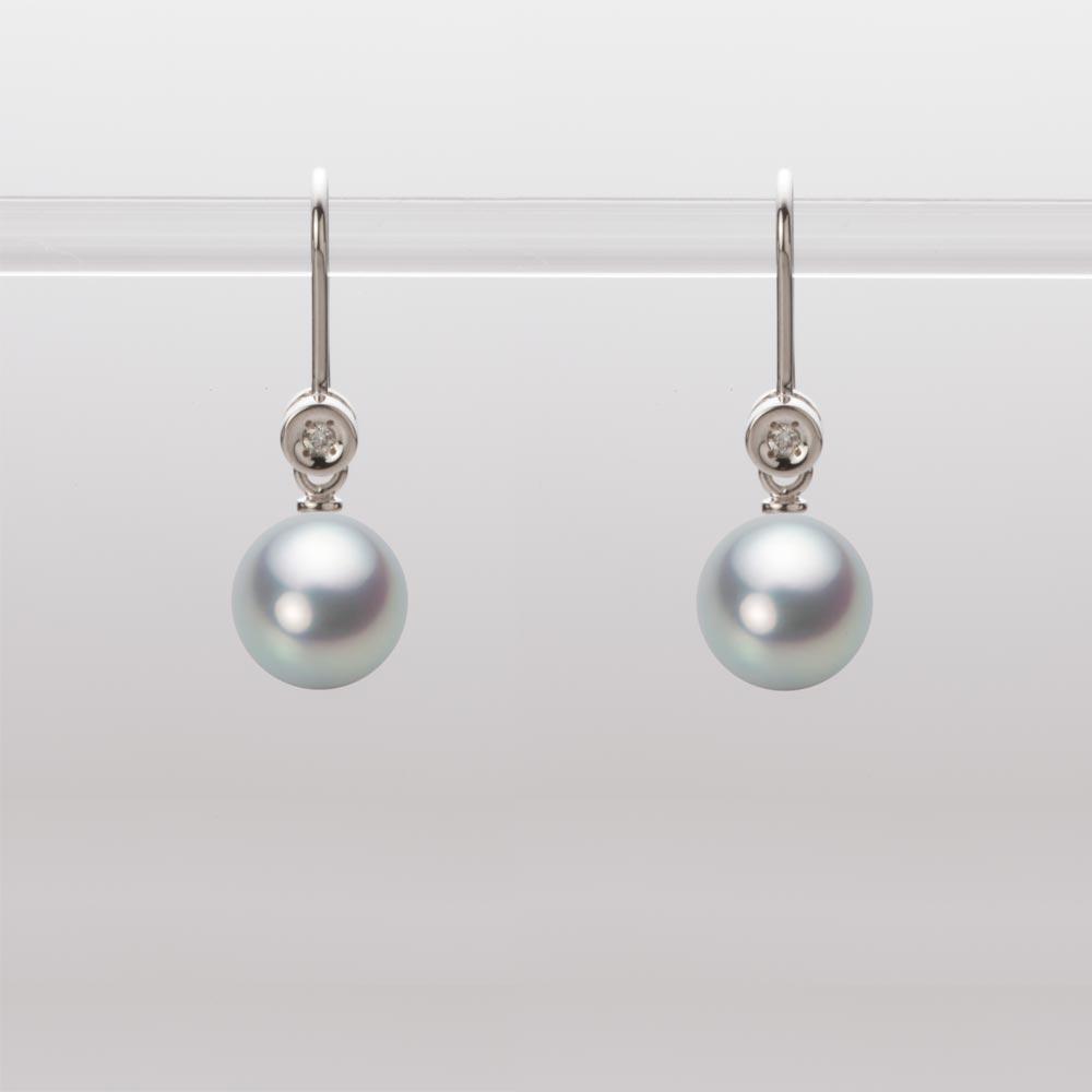 あこや真珠 パール ピアス 7.0mm アコヤ 真珠 ピアス K18WG ホワイトゴールド レディース HA00070R11SG0885W0
