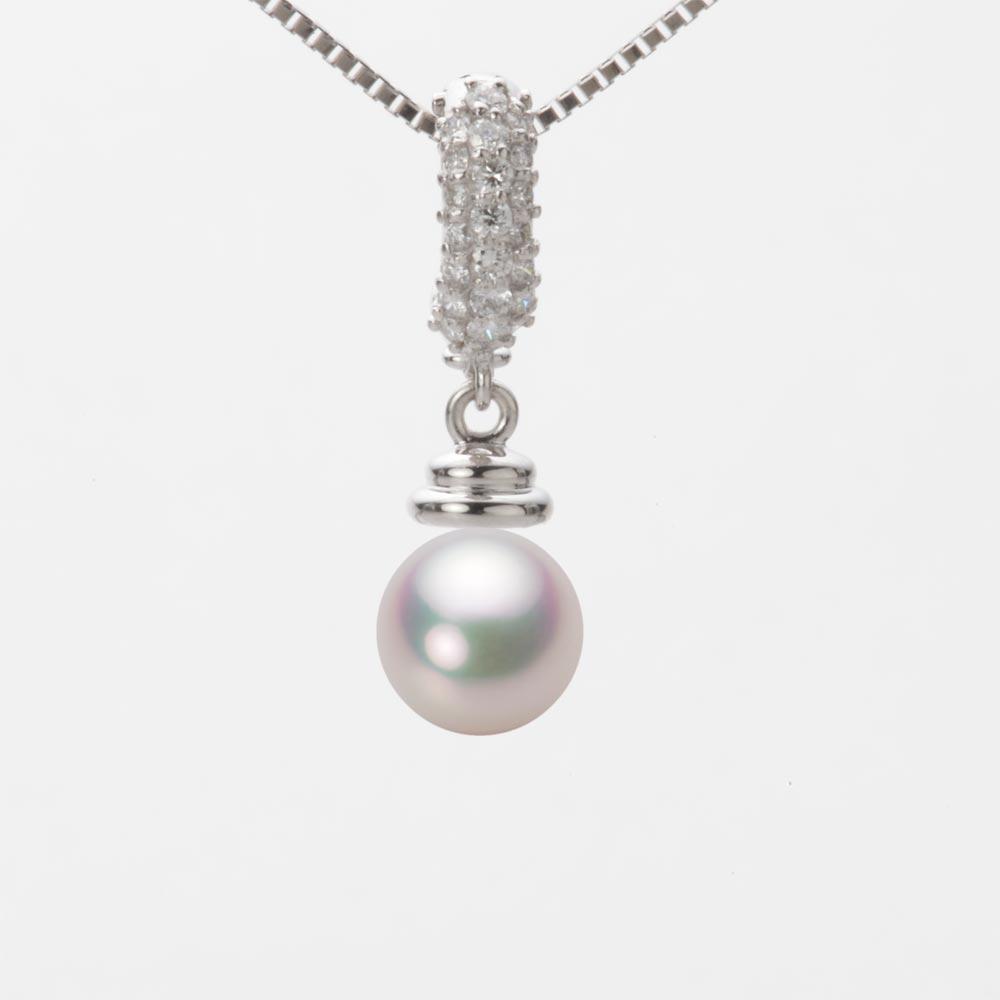 あこや真珠 パール ネックレス 7.0mm アコヤ 真珠 ペンダント K18WG ホワイトゴールド レディース HA00070R11WPG115W0