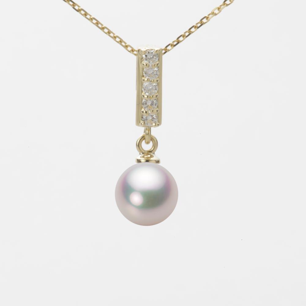 あこや真珠 パール ネックレス 7.0mm アコヤ 真珠 ペンダント K18 イエローゴールド レディース HA00070R11WPG314Y0
