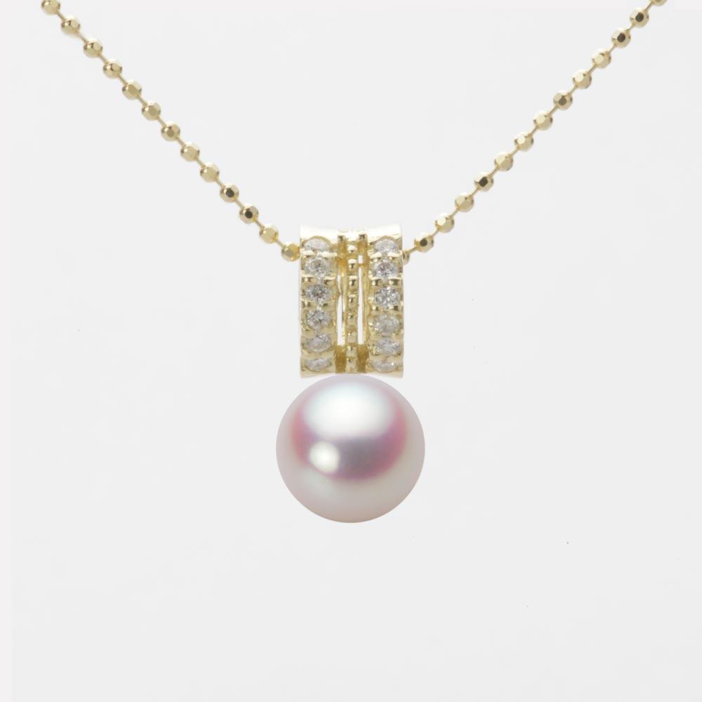 あこや真珠 パール ネックレス 7.0mm アコヤ 真珠 ペンダント K18 イエローゴールド レディース HA00070R11WPN1278Y
