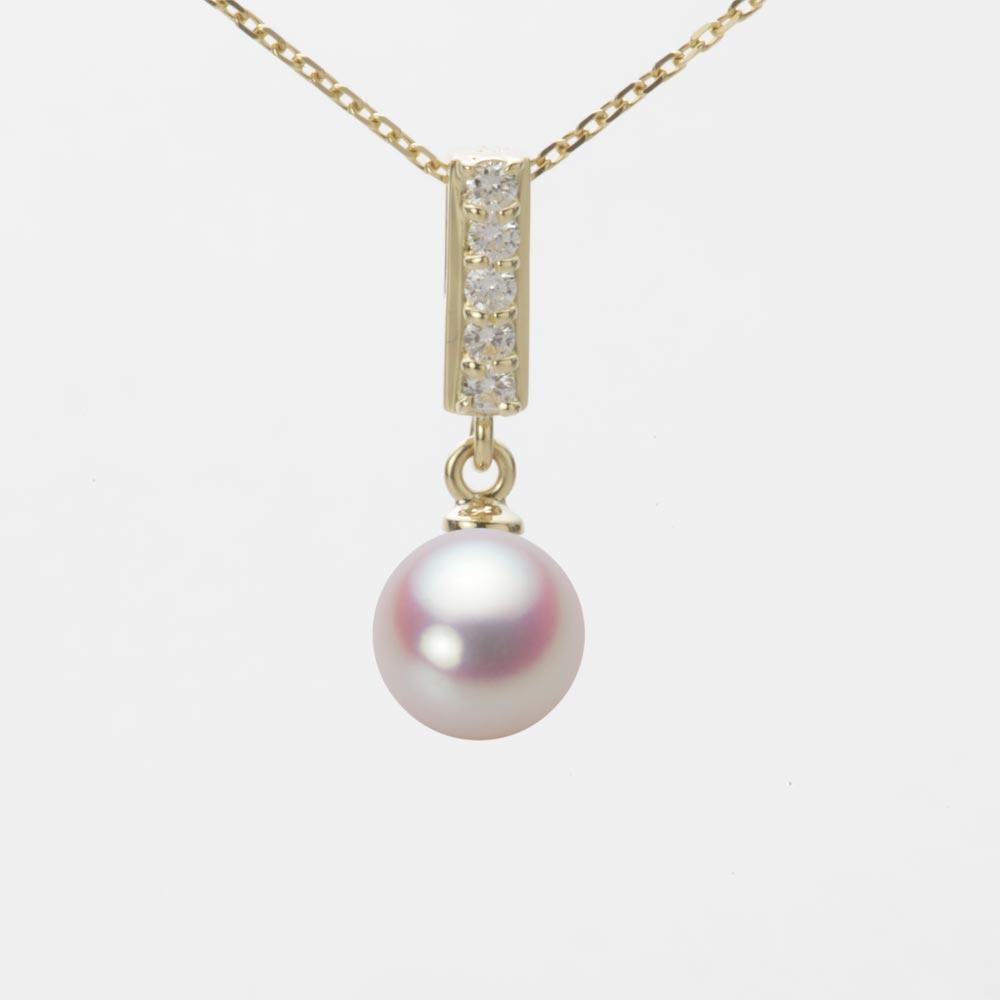 あこや真珠 パール ネックレス 7.0mm アコヤ 真珠 ペンダント K18 イエローゴールド レディース HA00070R11WPN314Y0
