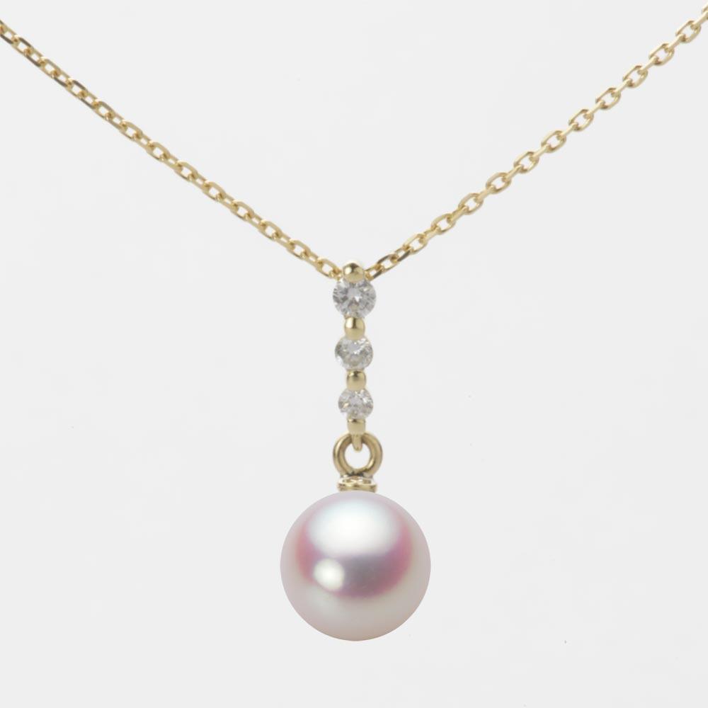 あこや真珠 パール ネックレス 7.0mm アコヤ 真珠 ペンダント K18 イエローゴールド レディース HA00070R11WPN797Y0