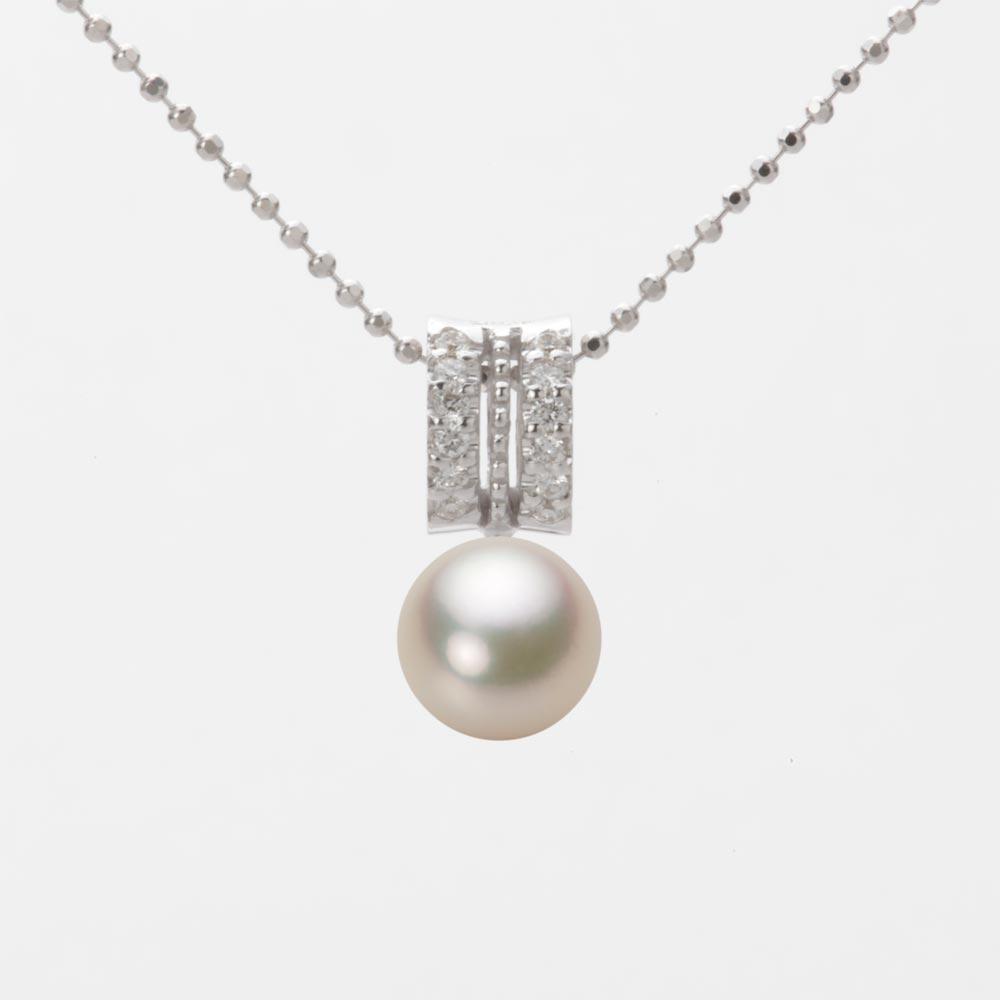 あこや真珠 パール ネックレス 7.0mm アコヤ 真珠 ペンダント K18WG ホワイトゴールド レディース HA00070R12CG01278W