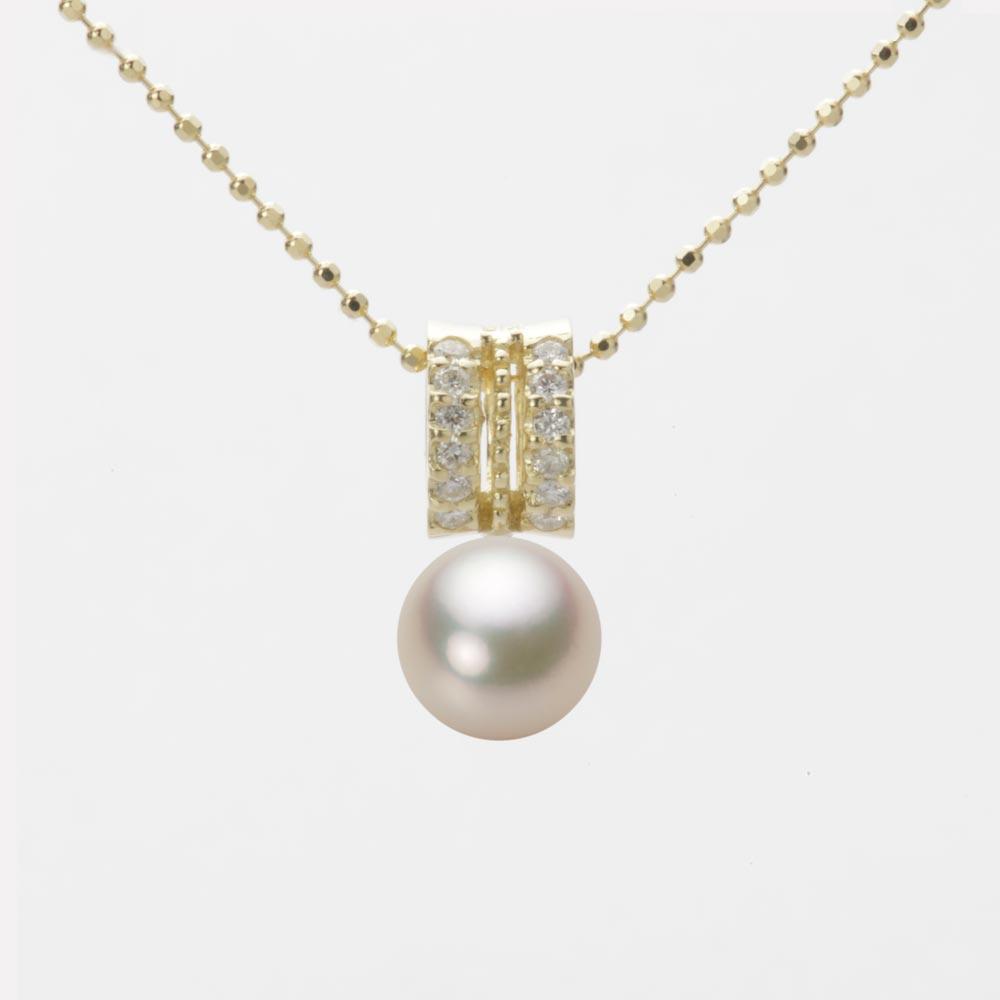 あこや真珠 パール ペンダント トップ 7.0mm アコヤ 真珠 ペンダント トップ K18 イエローゴールド レディース HA00070R12CG01278Y-T