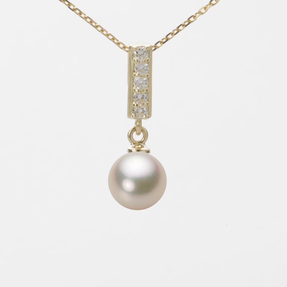 あこや真珠 パール ネックレス 7.0mm アコヤ 真珠 ペンダント K18 イエローゴールド レディース HA00070R12CG0314Y0