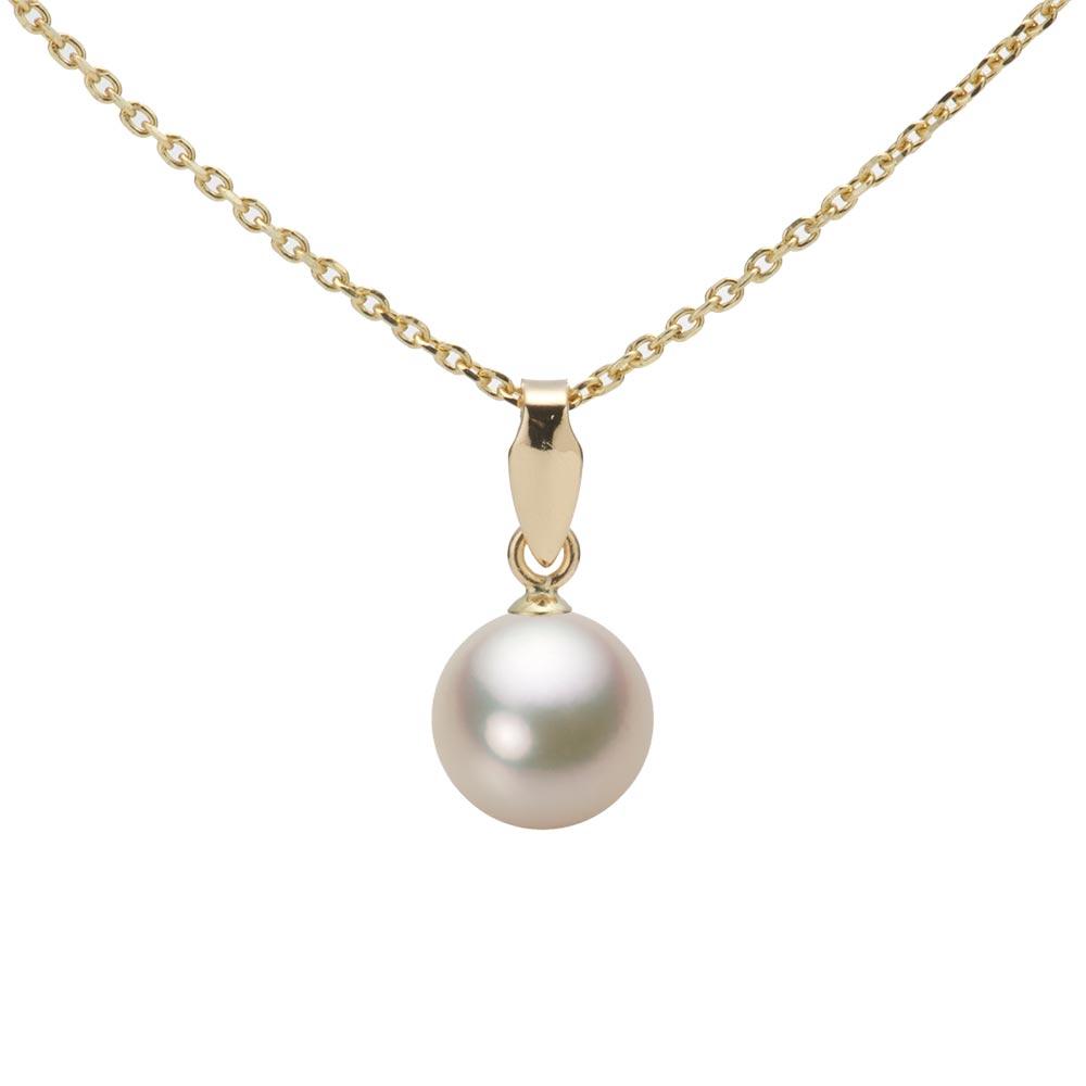 あこや真珠 パール ネックレス 7.0mm アコヤ 真珠 ペンダント K18 イエローゴールド レディース HA00070R12CG0U5Y00