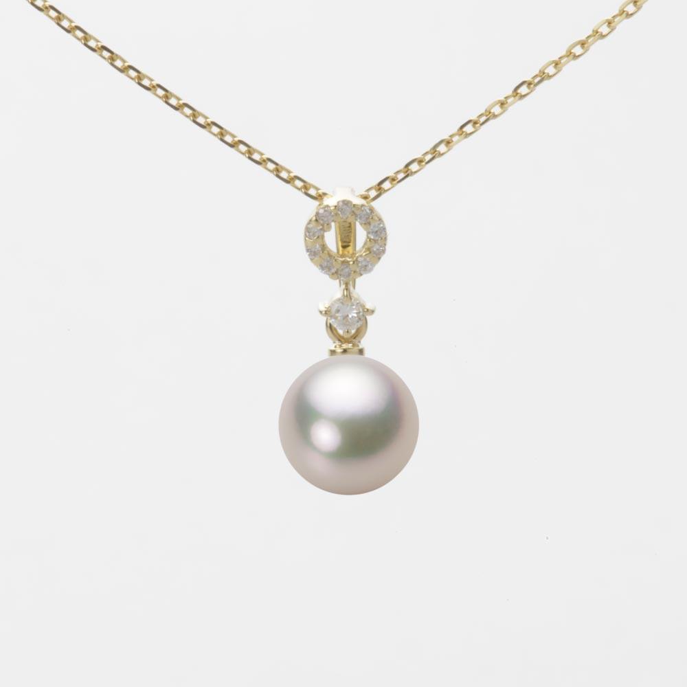 あこや真珠 パール ネックレス 7.0mm アコヤ 真珠 ペンダント K18 イエローゴールド レディース HA00070R12CW01474Y