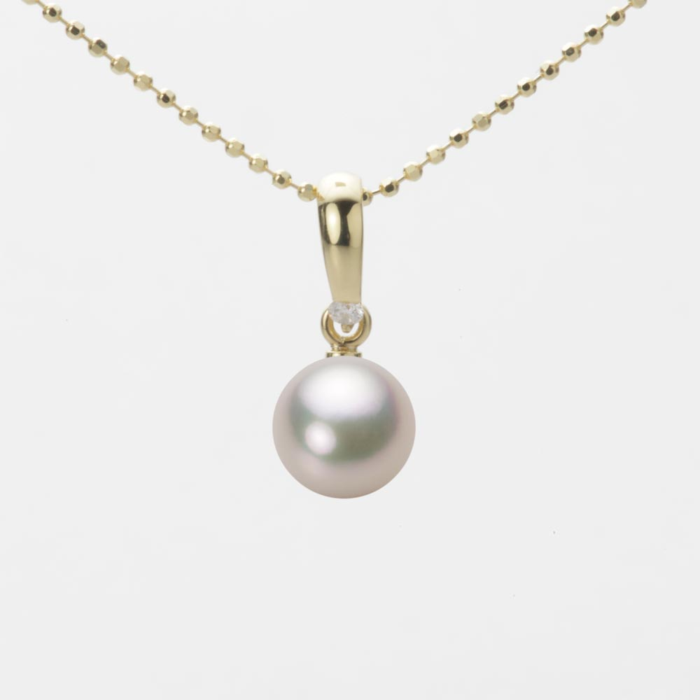 あこや真珠 パール ペンダント トップ 7.0mm アコヤ 真珠 ペンダント トップ K18 イエローゴールド レディース HA00070R12CW01500Y-T