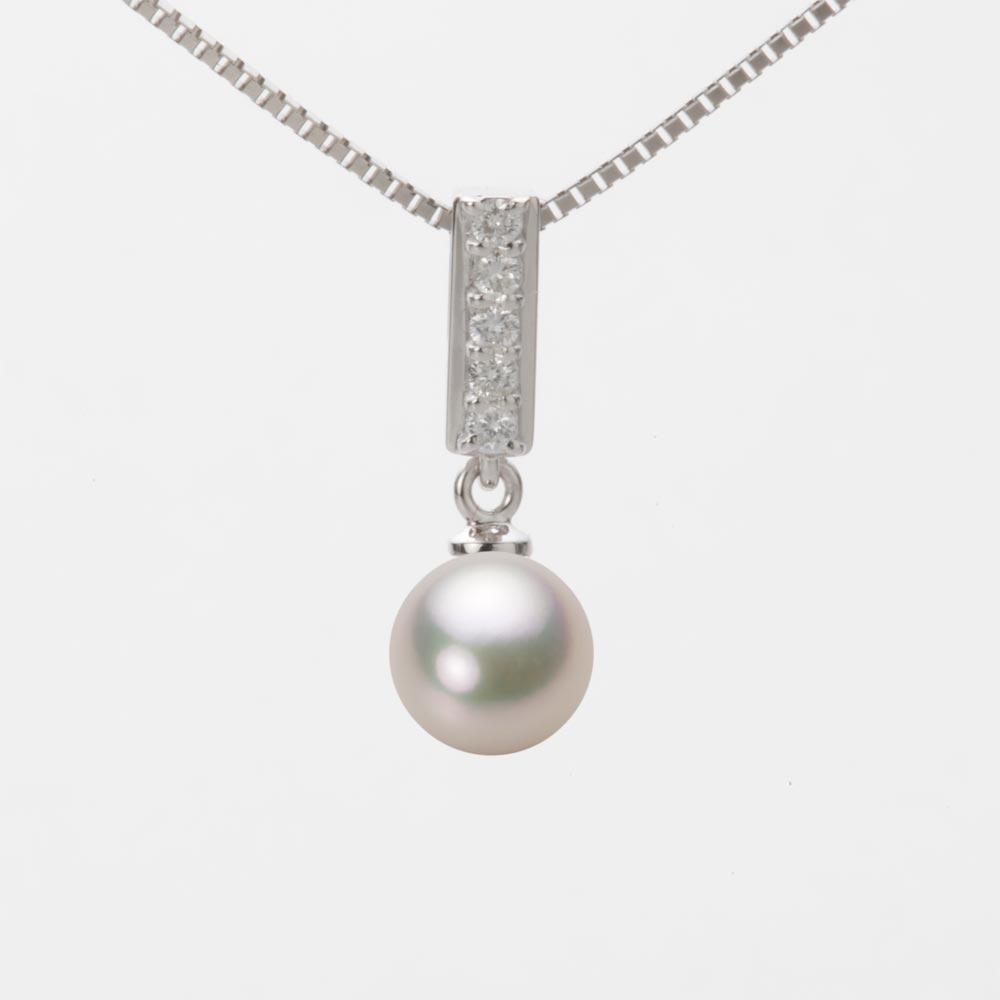 あこや真珠 パール ネックレス 7.0mm アコヤ 真珠 ペンダント K18WG ホワイトゴールド レディース HA00070R12CW0314W0