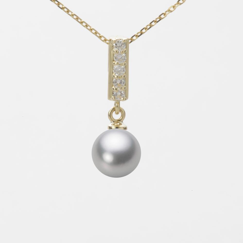 あこや真珠 パール ペンダント トップ 7.0mm アコヤ 真珠 ペンダント トップ K18 イエローゴールド レディース HA00070R12SG0314Y0-T