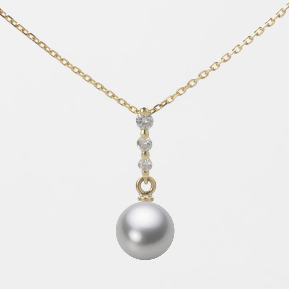 あこや真珠 パール ペンダント トップ 7.0mm アコヤ 真珠 ペンダント トップ K18 イエローゴールド レディース HA00070R12SG0797Y0-T