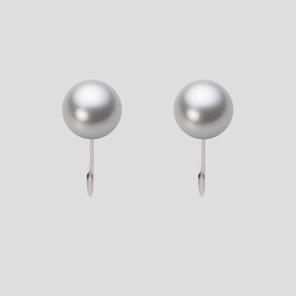 あこや真珠 パール イヤリング 7.0mm アコヤ 真珠 イヤリング Pt900 プラチナ レディース HA00070R12SG0Y09P0