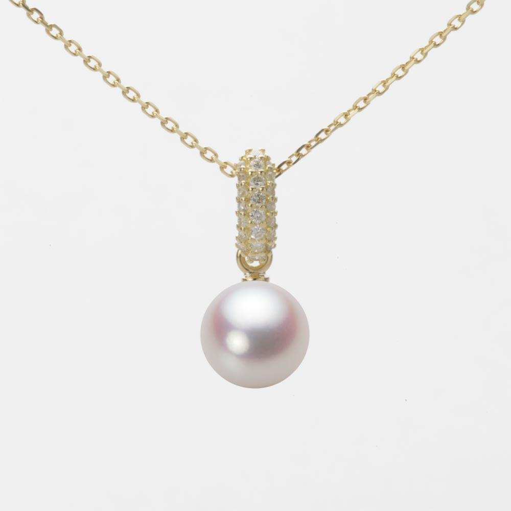 あこや真珠 パール ネックレス 7.0mm アコヤ 真珠 ペンダント K18 イエローゴールド レディース HA00070R12WPN1489Y