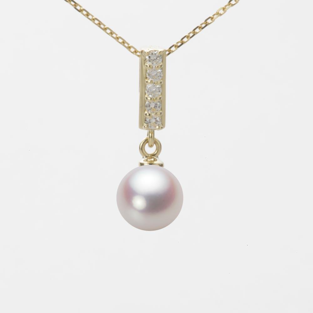 あこや真珠 パール ネックレス 7.0mm アコヤ 真珠 ペンダント K18 イエローゴールド レディース HA00070R12WPN314Y0