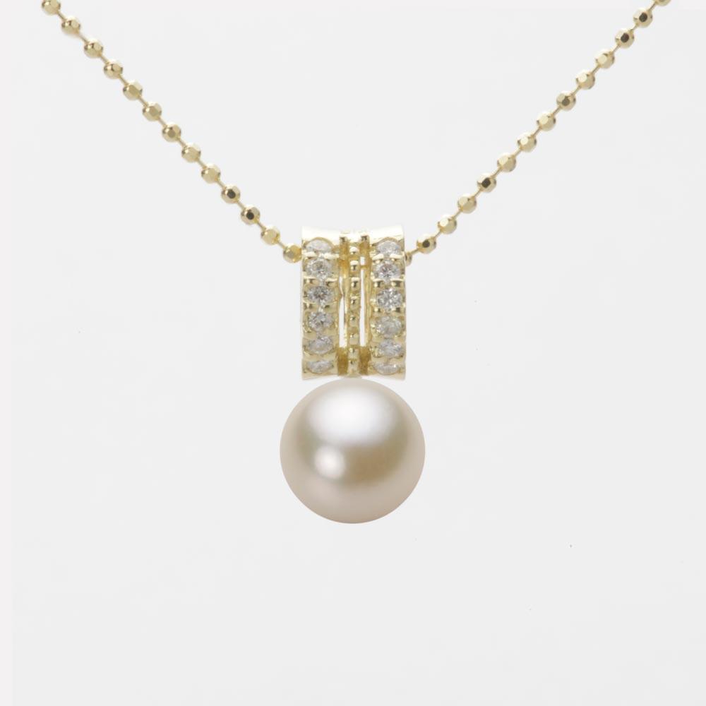 あこや真珠 パール ネックレス 7.0mm アコヤ 真珠 ペンダント K18 イエローゴールド レディース HA00070R13CG01278Y