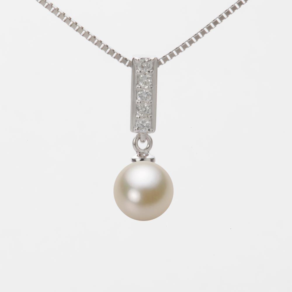 あこや真珠 パール ネックレス 7.0mm アコヤ 真珠 ペンダント K18WG ホワイトゴールド レディース HA00070R13CG0314W0