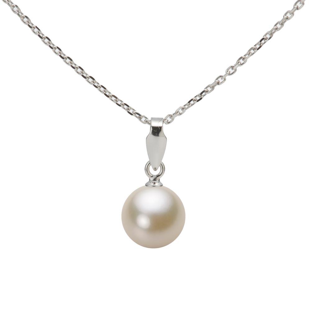 あこや真珠 パール ネックレス 7.0mm アコヤ 真珠 ペンダント K18WG ホワイトゴールド レディース HA00070R13CG0U188W
