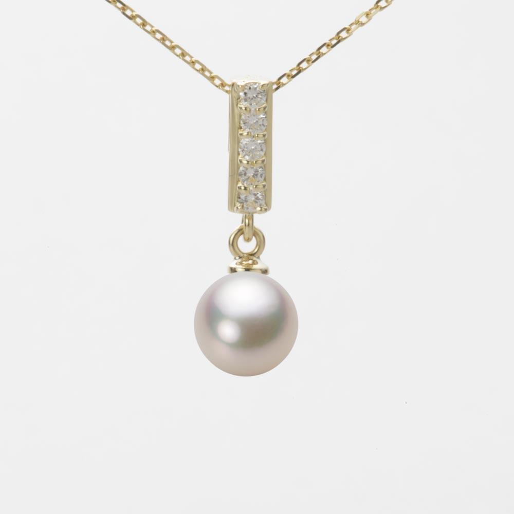 あこや真珠 パール ネックレス 7.0mm アコヤ 真珠 ペンダント K18 イエローゴールド レディース HA00070R13CW0314Y0