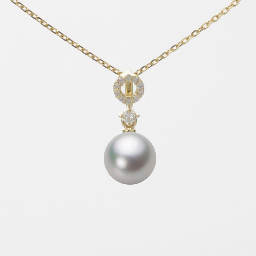 あこや真珠 パール ペンダント トップ 7.0mm アコヤ 真珠 ペンダント トップ K18 イエローゴールド レディース HA00070R13SG01474Y-T