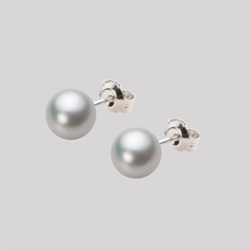 あこや真珠 パール ピアス 7.0mm アコヤ 真珠 ピアス Pt900 プラチナ レディース HA00070R13SG0PA04P