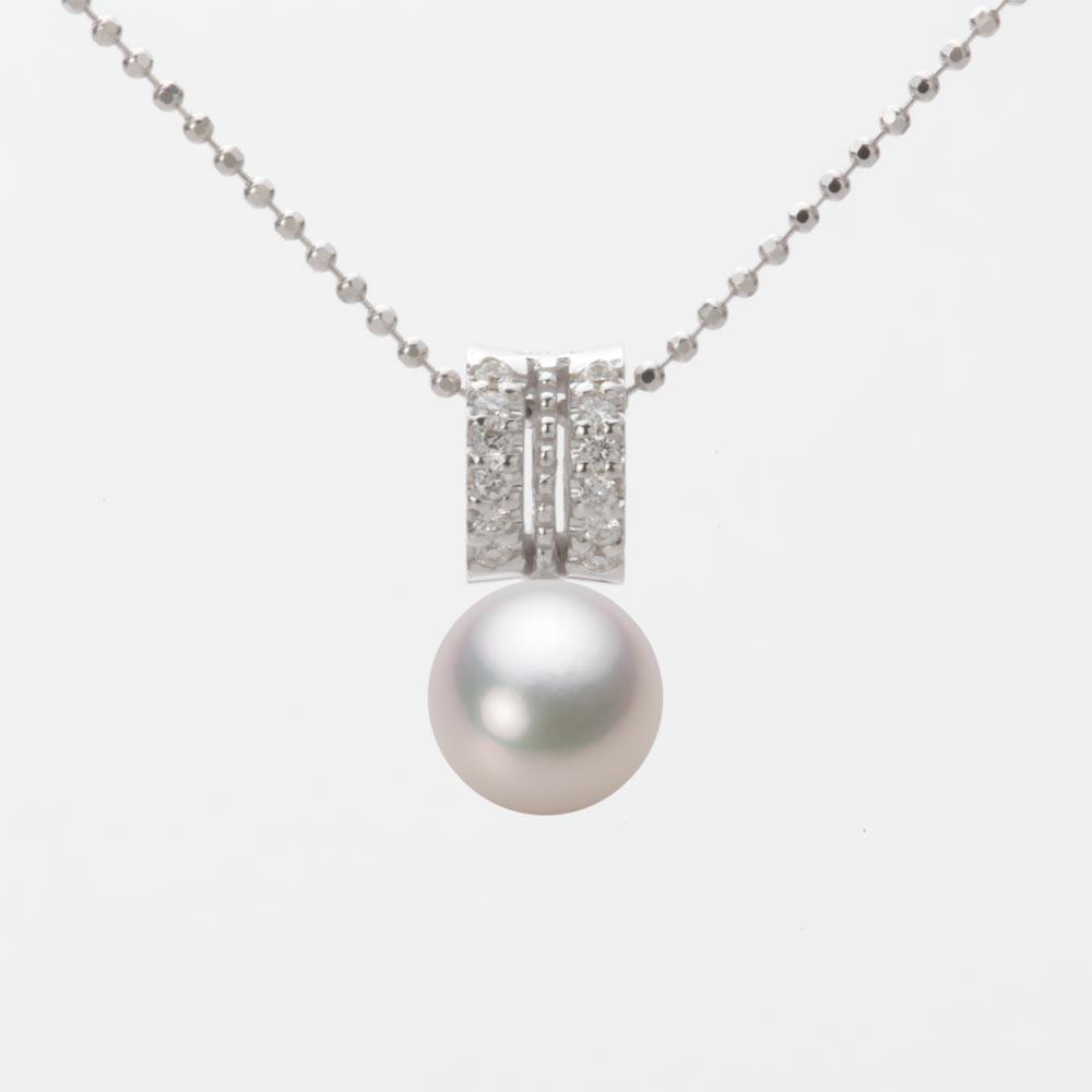 あこや真珠 パール ネックレス 7.0mm アコヤ 真珠 ペンダント K18WG ホワイトゴールド レディース HA00070R13WPG1278W