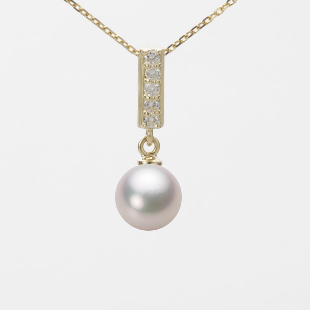 あこや真珠 パール ネックレス 7.0mm アコヤ 真珠 ペンダント K18 イエローゴールド レディース HA00070R13WPG314Y0